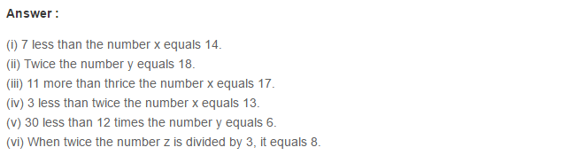 Linear Equation In One Variable RS Aggarwal Class 6 Maths Solutions Ex 9A 1.9