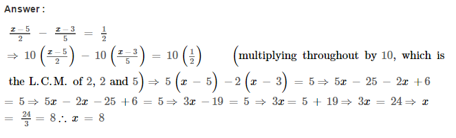 Linear Equations RS Aggarwal Class 8 Maths Solutions Ex 8A 10.1