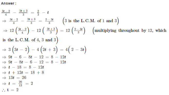 Linear Equations RS Aggarwal Class 8 Maths Solutions Ex 8A 11.1