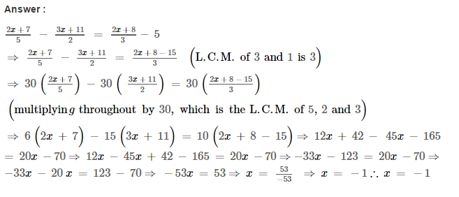 Linear Equations RS Aggarwal Class 8 Maths Solutions Ex 8A 12.1