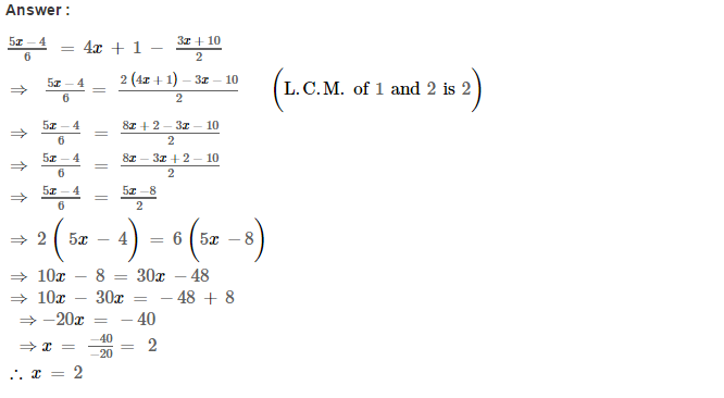 Linear Equations RS Aggarwal Class 8 Maths Solutions Ex 8A 13.1