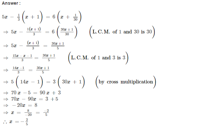 Linear Equations RS Aggarwal Class 8 Maths Solutions Ex 8A 14.1