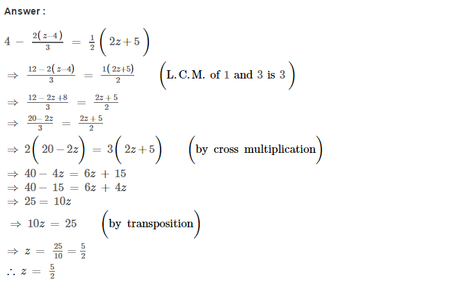 Linear Equations RS Aggarwal Class 8 Maths Solutions Ex 8A 15.1