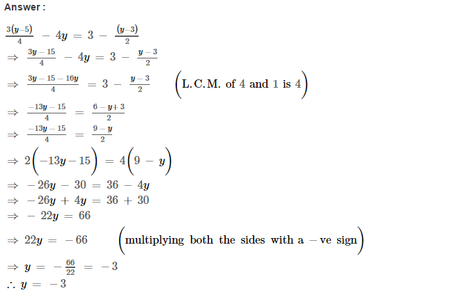 Linear Equations RS Aggarwal Class 8 Maths Solutions Ex 8A 16.1