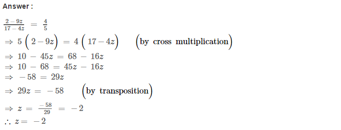Linear Equations RS Aggarwal Class 8 Maths Solutions Ex 8A 21.1