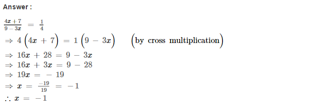 Linear Equations RS Aggarwal Class 8 Maths Solutions Ex 8A 22.1