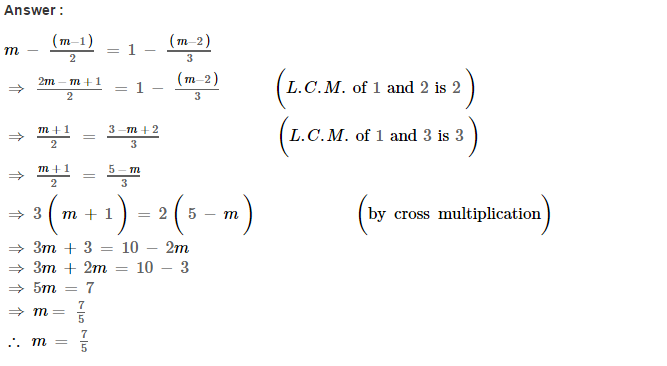 Linear Equations RS Aggarwal Class 8 Maths Solutions Ex 8A 26.1