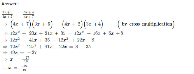 Linear Equations RS Aggarwal Class 8 Maths Solutions Ex 8A 27.1