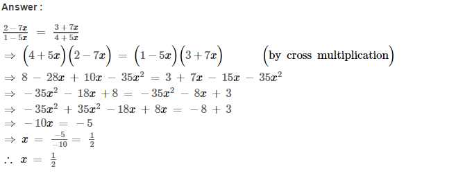 Linear Equations RS Aggarwal Class 8 Maths Solutions Ex 8A 29.1
