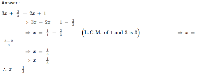 Linear Equations RS Aggarwal Class 8 Maths Solutions Ex 8A 7.1