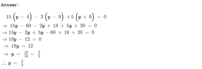 Linear Equations RS Aggarwal Class 8 Maths Solutions Ex 8A 8.1