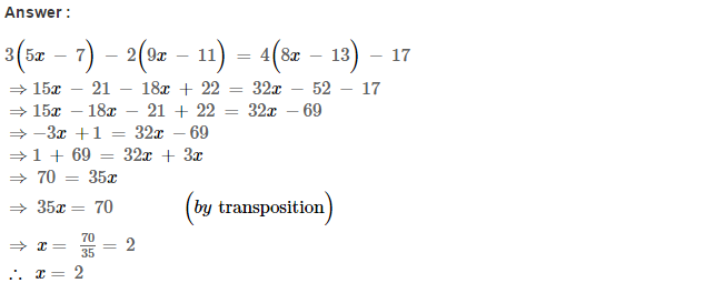 Linear Equations RS Aggarwal Class 8 Maths Solutions Ex 8A 9.1