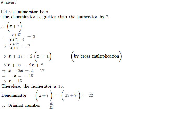 Linear Equations RS Aggarwal Class 8 Maths Solutions Ex 8B 17.1
