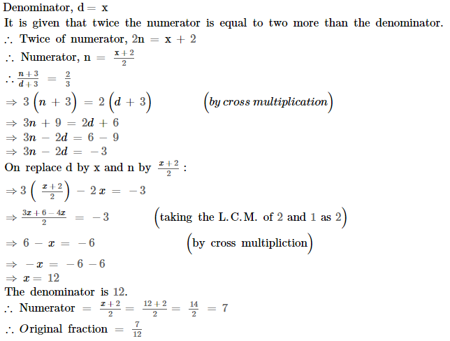 Linear Equations RS Aggarwal Class 8 Maths Solutions Ex 8B 18.1