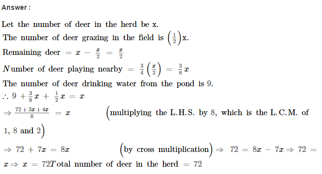 Linear Equations RS Aggarwal Class 8 Maths Solutions Ex 8B 31.1