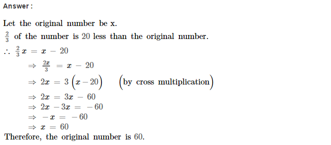 Linear Equations RS Aggarwal Class 8 Maths Solutions Ex 8B 6.1