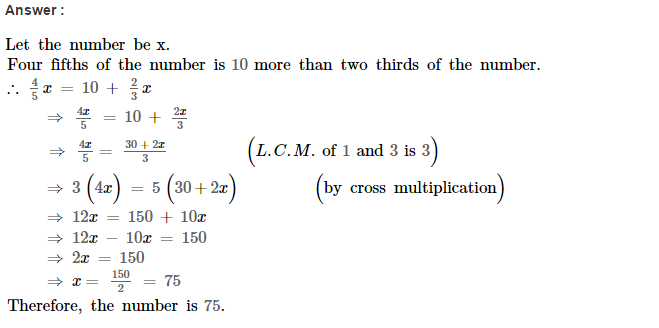 Linear Equations RS Aggarwal Class 8 Maths Solutions Ex 8B 7.1