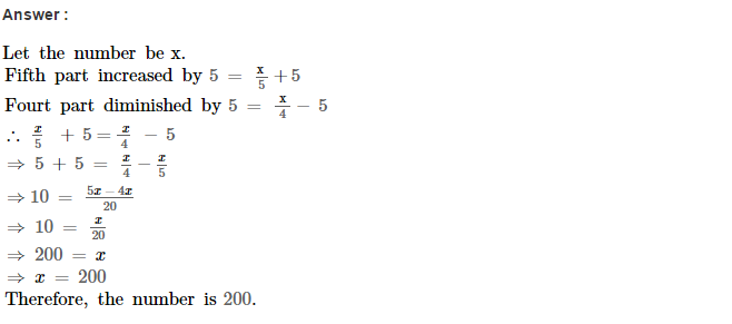 Linear Equations RS Aggarwal Class 8 Maths Solutions Ex 8B 9.1