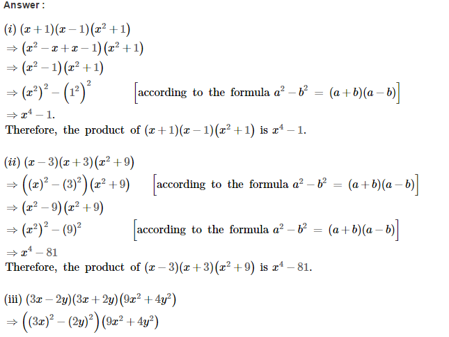 Operations On Algebraic Expressions RS Aggarwal Class 8 Maths Solutions Ex 6D 14.1