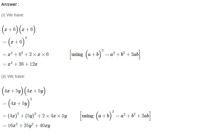 Operations On Algebraic Expressions RS Aggarwal Class 8 Maths Solutions Ex 6D 2.1