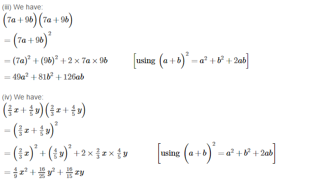 Operations On Algebraic Expressions RS Aggarwal Class 8 Maths Solutions Ex 6D 2.2