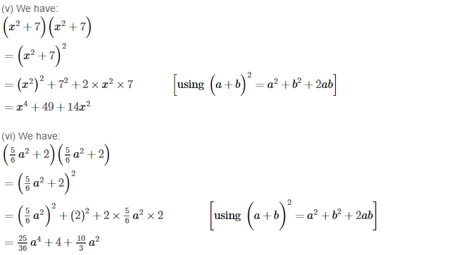 Operations On Algebraic Expressions RS Aggarwal Class 8 Maths Solutions Ex 6D 2.3