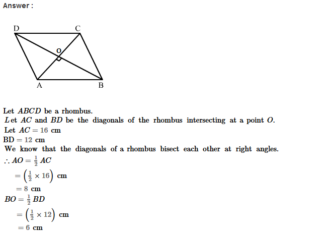 Parallelograms RS Aggarwal Class 8 Maths Solutions Exercise 16A 11.1