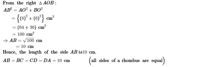 Parallelograms RS Aggarwal Class 8 Maths Solutions Exercise 16A 11.2