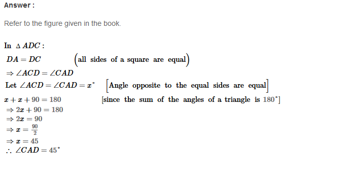 Parallelograms RS Aggarwal Class 8 Maths Solutions Exercise 16A 12.1