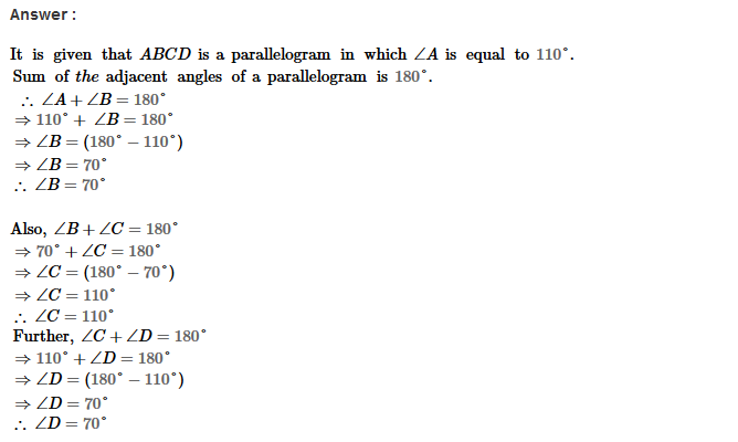 Parallelograms RS Aggarwal Class 8 Maths Solutions Exercise 16A 2.1