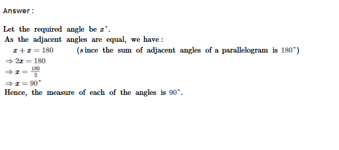 Parallelograms RS Aggarwal Class 8 Maths Solutions Exercise 16A 3.1