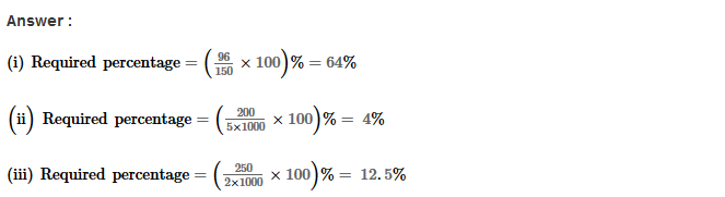 Percentage RS Aggarwal Class 8 Maths Solutions Ex 9A 12.1