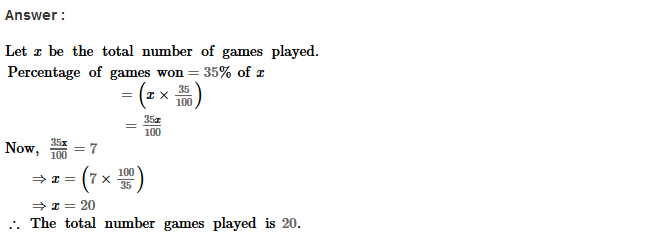 Percentage RS Aggarwal Class 8 Maths Solutions Ex 9A 16.1