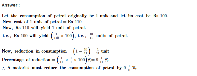 Percentage RS Aggarwal Class 8 Maths Solutions Ex 9A 20.1