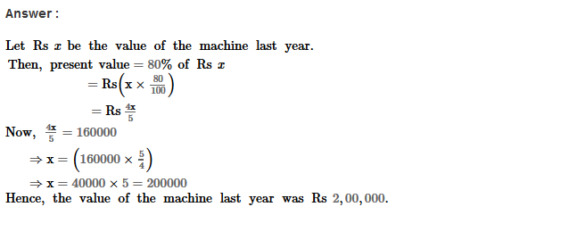 Percentage RS Aggarwal Class 8 Maths Solutions Ex 9A 22.1