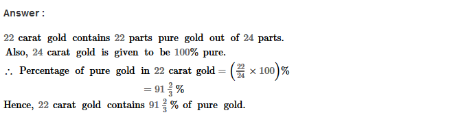 Percentage RS Aggarwal Class 8 Maths Solutions Ex 9A 27.1
