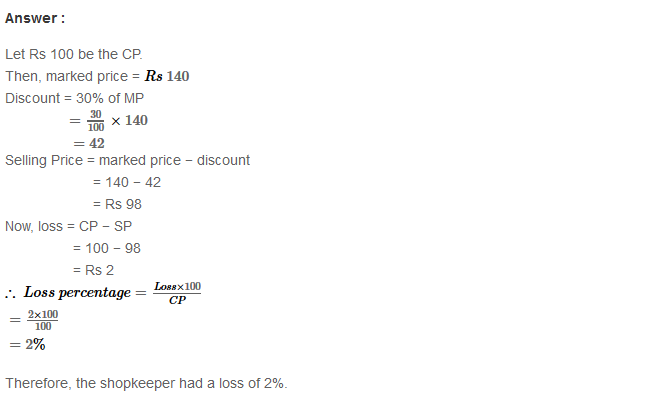 Profit and Loss RS Aggarwal Class 8 Maths Solutions Ex 10B 10.1