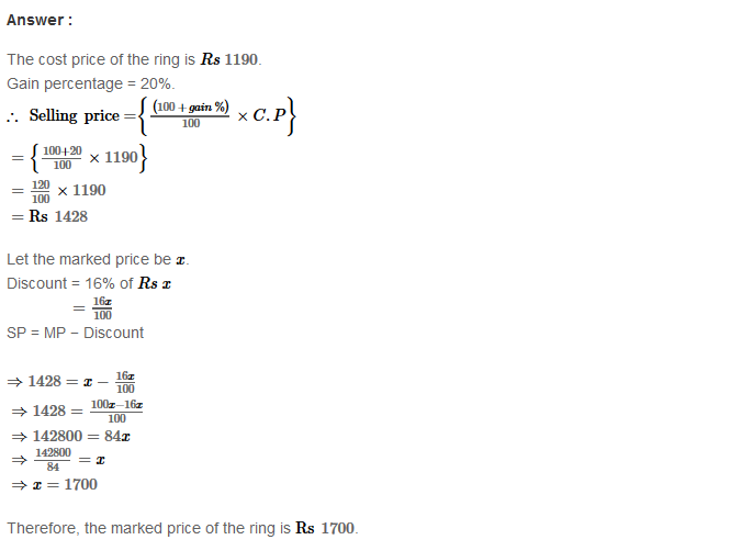 Profit and Loss RS Aggarwal Class 8 Maths Solutions Ex 10B 13.1