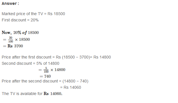 Profit and Loss RS Aggarwal Class 8 Maths Solutions Ex 10B 16.1