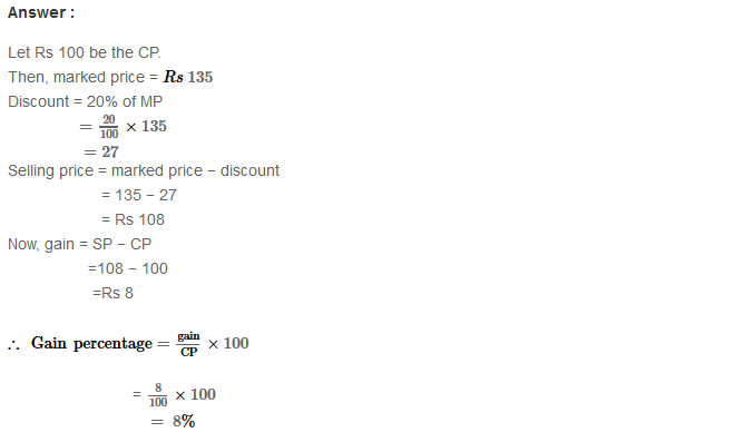 Profit and Loss RS Aggarwal Class 8 Maths Solutions Ex 10B 9.1