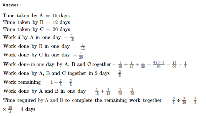 Time and Work RS Aggarwal Class 8 Maths Solutions Ex 13A 12.1