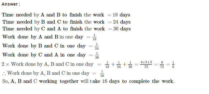 Time and Work RS Aggarwal Class 8 Maths Solutions Ex 13A 13.1