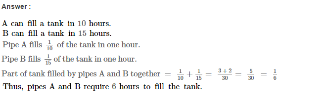 Time and Work RS Aggarwal Class 8 Maths Solutions Ex 13A 15.1