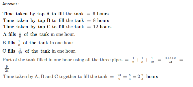 Time and Work RS Aggarwal Class 8 Maths Solutions Ex 13A 17.1