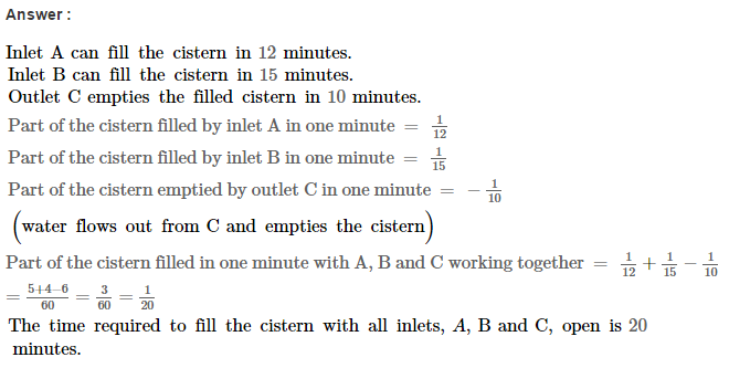 Time and Work RS Aggarwal Class 8 Maths Solutions Ex 13A 18.1