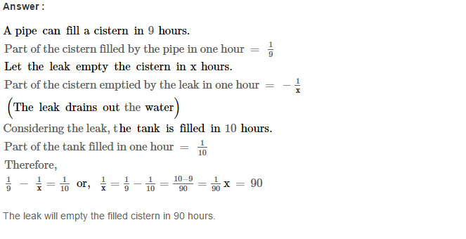 Time and Work RS Aggarwal Class 8 Maths Solutions Ex 13A 19.1