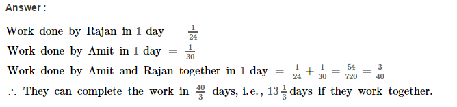 Time and Work RS Aggarwal Class 8 Maths Solutions Ex 13A 2.1