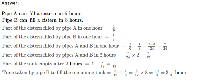 Time and Work RS Aggarwal Class 8 Maths Solutions Ex 13A 20.1