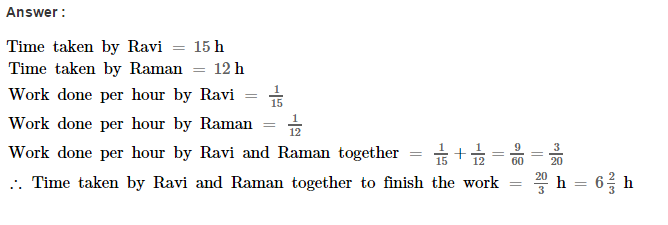 Time and Work RS Aggarwal Class 8 Maths Solutions Ex 13A 3.1