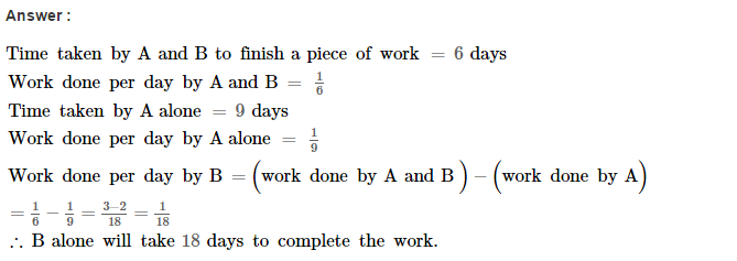 Time and Work RS Aggarwal Class 8 Maths Solutions Ex 13A 4.1